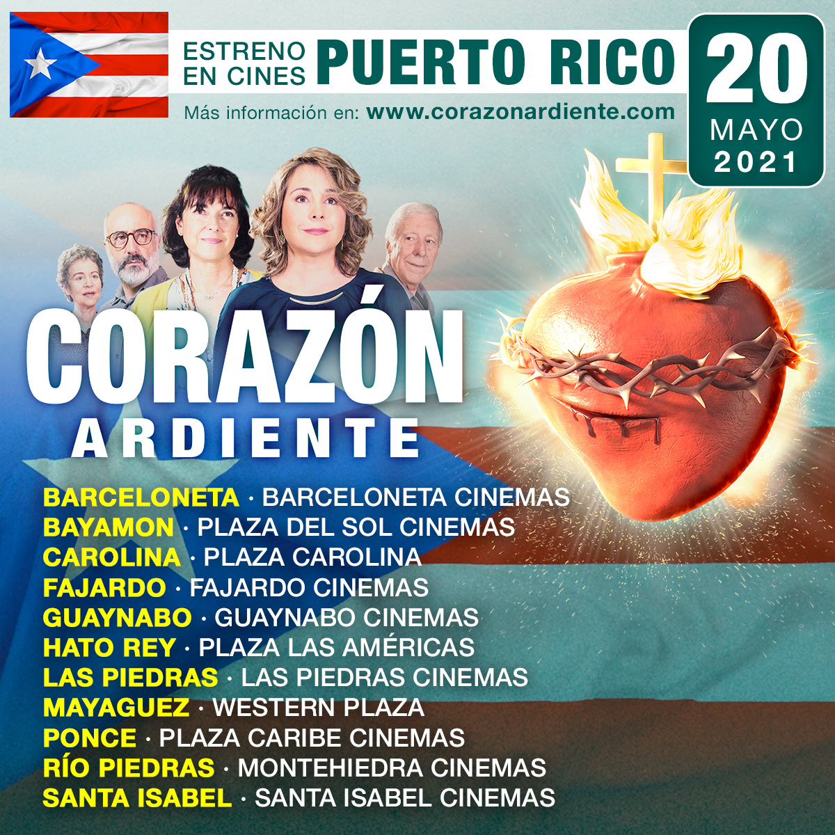 El próximo 20 de mayo se estrenará la película en las mejores salas de Puerto Rico